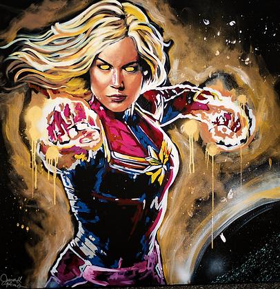 Captain Marvel Speedpainting 3x3 ft