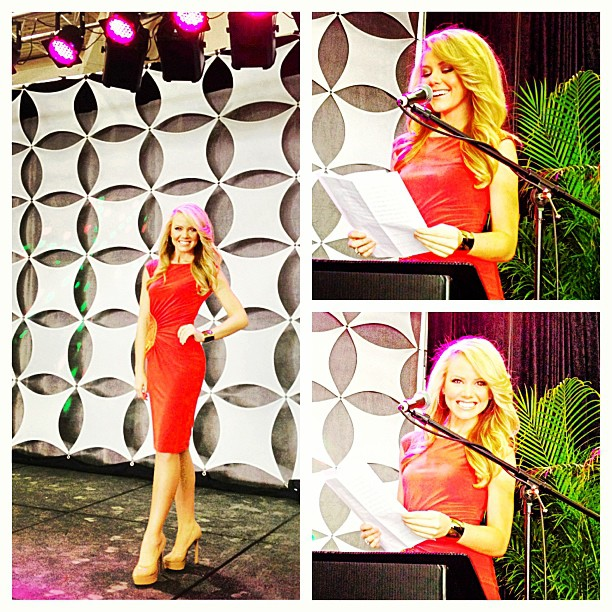 Modeling for Cachè & Emceeing at the Southern Women's Convention this morning