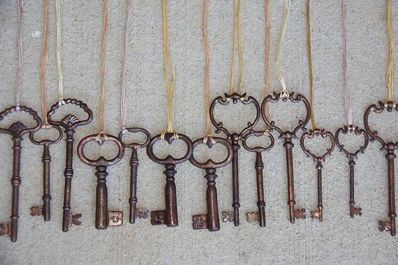 Cast Bronze Key Necklaces