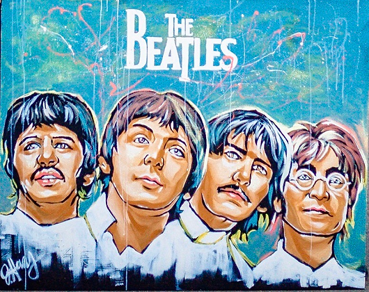 """""""The Beatles"""" Painting"""