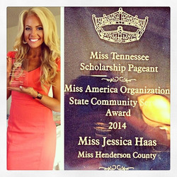 I am honored to receive the Miss America Community Service Award for The Unbound Project! I am overw