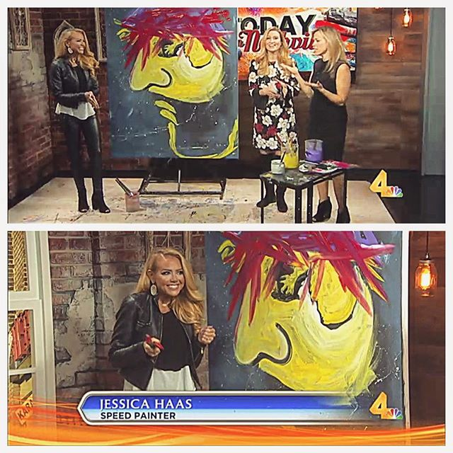 Thank you for having me _todayinnashville ! I had a blast painting & sharing my story on the show! #