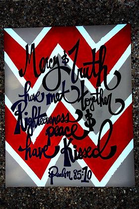 Chevron scripture art