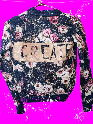 """Create"" Splatter Bomber Jacket"