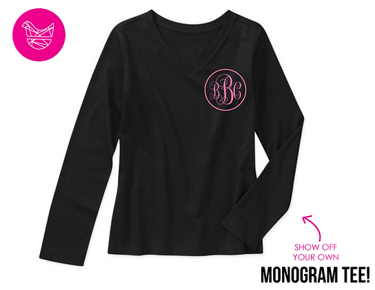 Personalized Monogram Shirt (black)