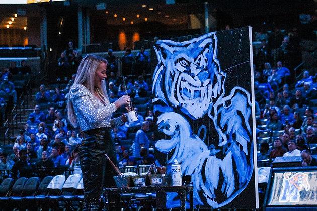 Memphis Tigers Men's Halftime Show Performance Art