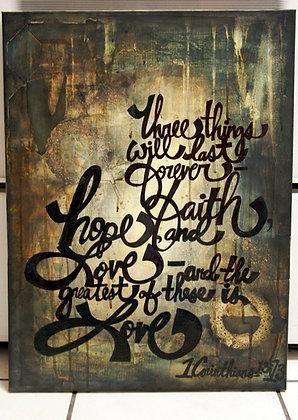 Grunge 1 Corinthians 13:13