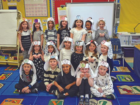 First Graders Spotted Celebrating the 101st Day of School