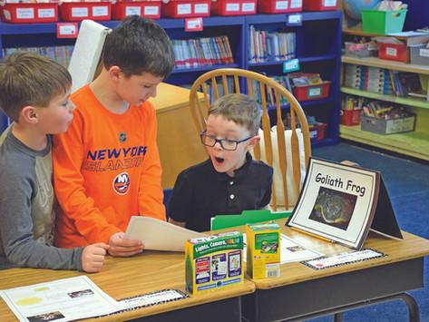 Third graders leap into teaching at Sylvan Avenue Elementary School