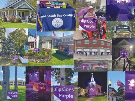 Islip Goes Purple in Our Communities