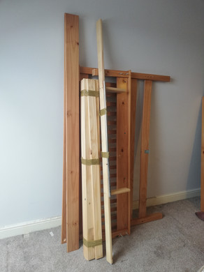 Fully Dismantled Double Bed