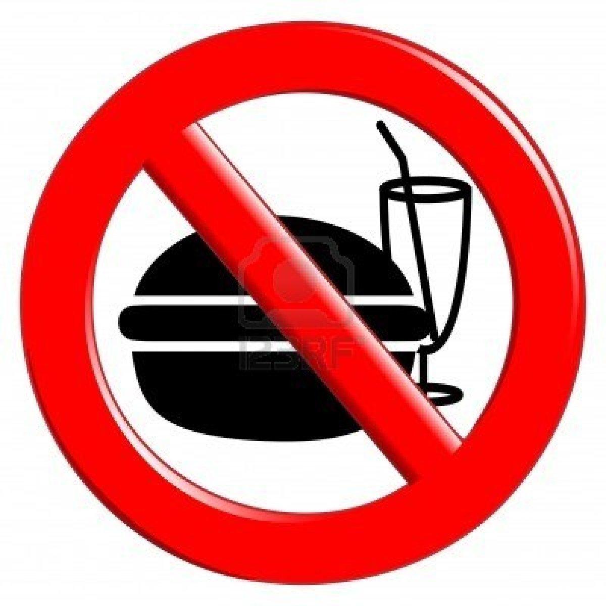 Prohibido ingresar con alimentos