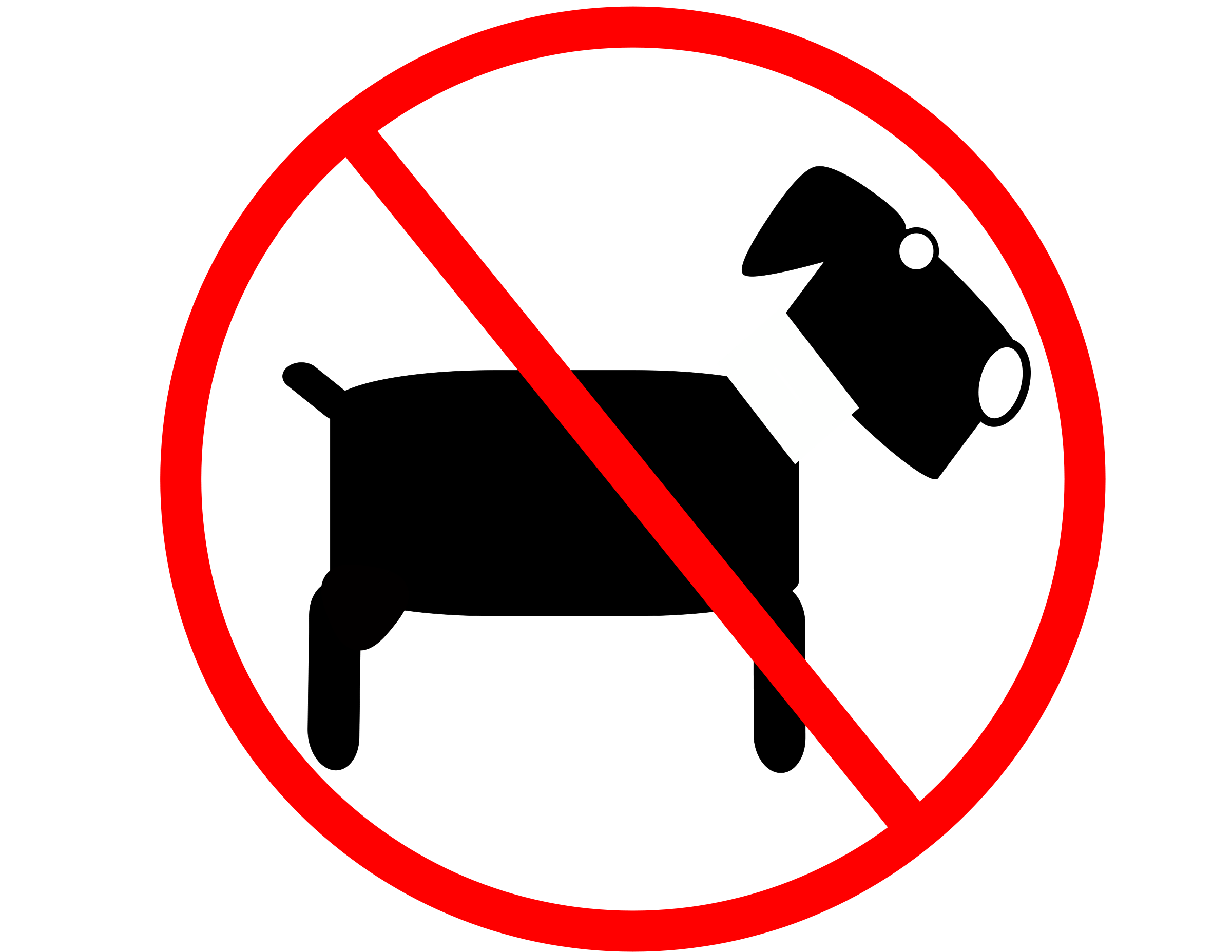 Prohibido ingresar con Mascotas
