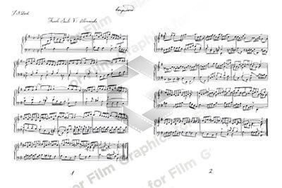 Handwritten Music - Bach