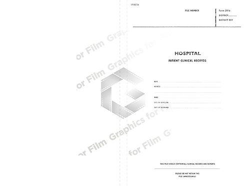 Hospital patient record folder