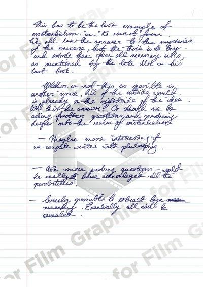 Student Essay Notes - folio size