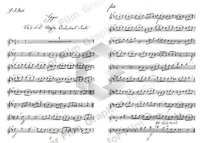 Handwritten Music - Bach