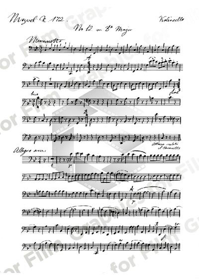 Handwritten Music - Mozart