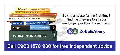 Underground tube train carriage advert - Mortgage company