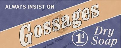 Gossages Dry Soap bus advert