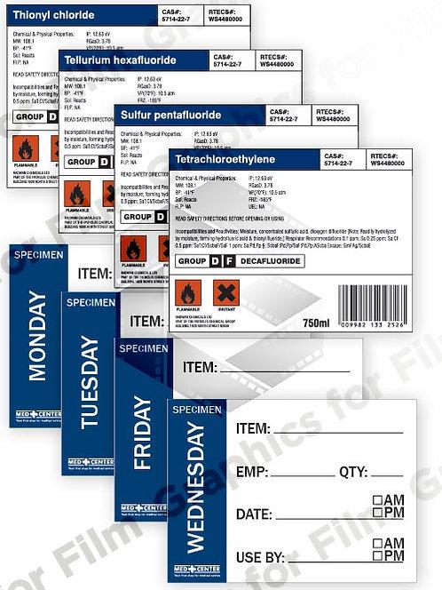 8 Medical Bottle Labels