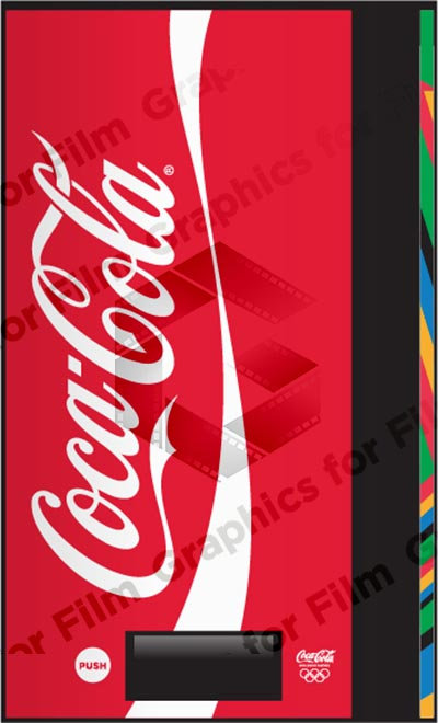 Coca-Cola vending machine graphic