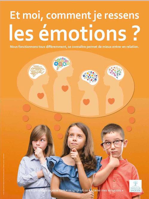 Kit 6 posters Gérer ses Emotions 1er degré 60x80cm