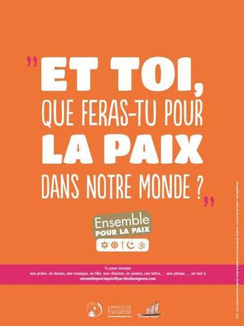 ENSEMBLE POUR LA PAIX +guide animateur 30x40cm