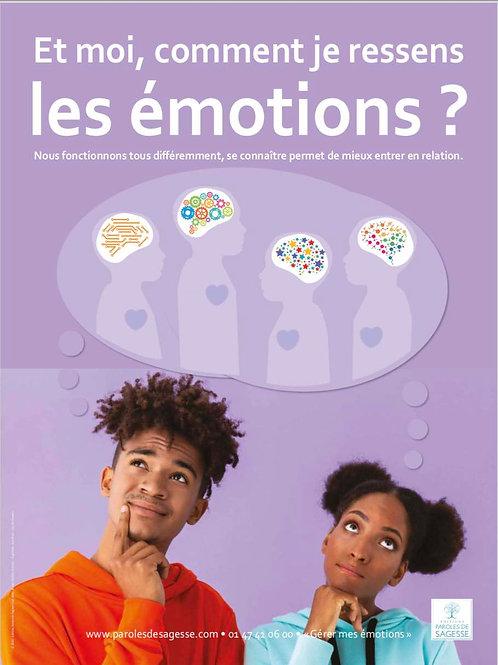 Kit 6 posters Gérer ses Emotions 2nd degré 60x80cm