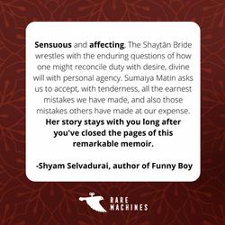 Shyam Selvadurai_SB endorsement