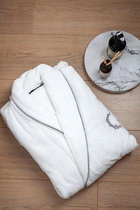 Халат Sehzade White Premium Серебро