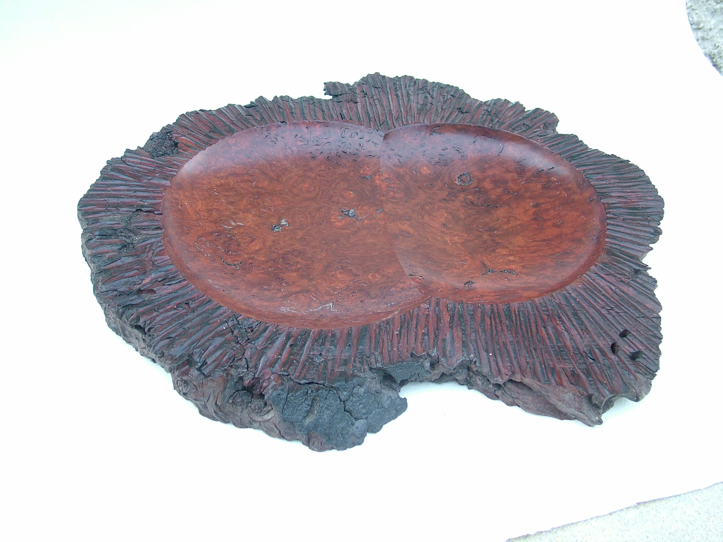 jarrah burr, multi centred turning