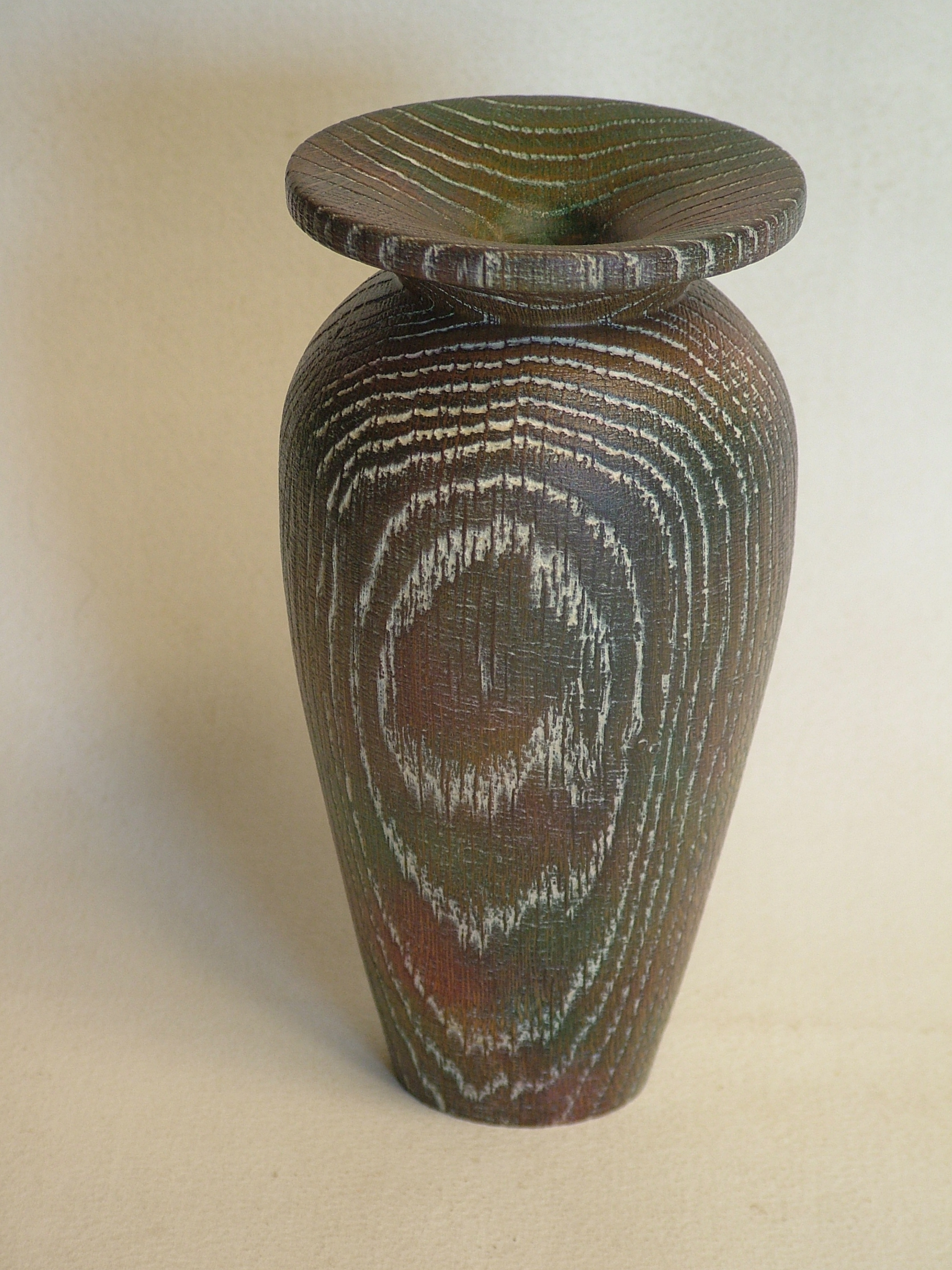 textured coloured ash vase