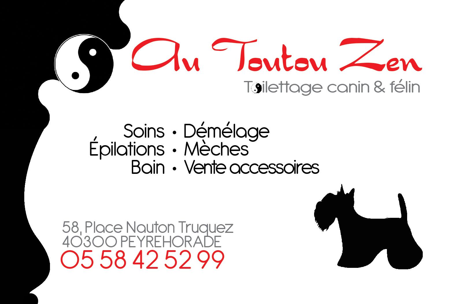 Boutique de toilettage canin