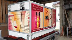 Habillage camion frigo par adhésif