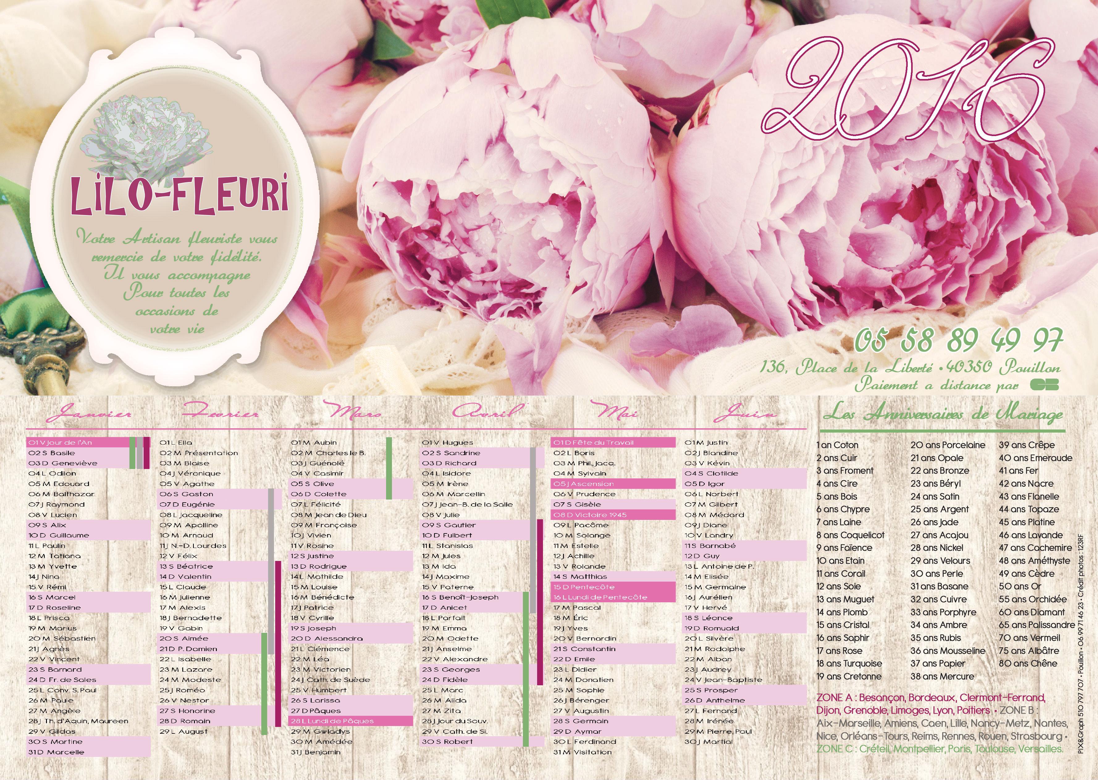Fleuriste verso