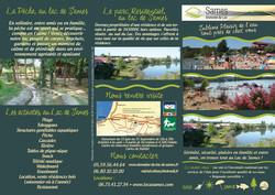 Dépliant 6 faces Lac de Sames