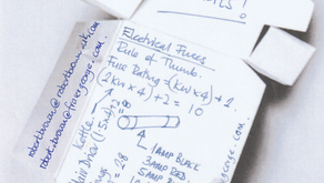 Fag packet notes,..always good for reference, ... No 1. Electrical Fuses