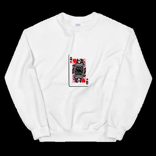 Masked Queen of Hearts Crew neck Sweatshirt
