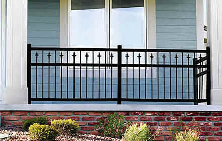 Diamond Black Aluminum Railing