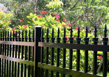Aluminum Picket Fence With Pcket Caps