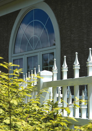 Aluminum Fence With Picket Caps