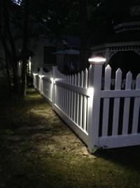 Low Voltage Lighting Caps & Picket Fence