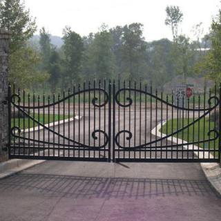 Scroll Picket Gate
