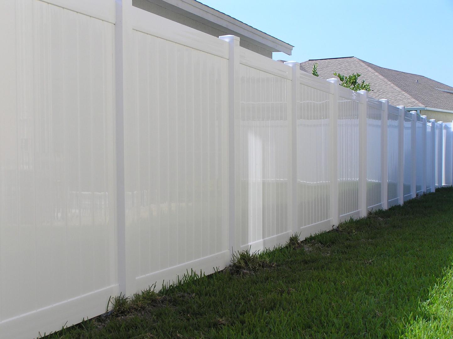 White Emboss Vinyl Fence