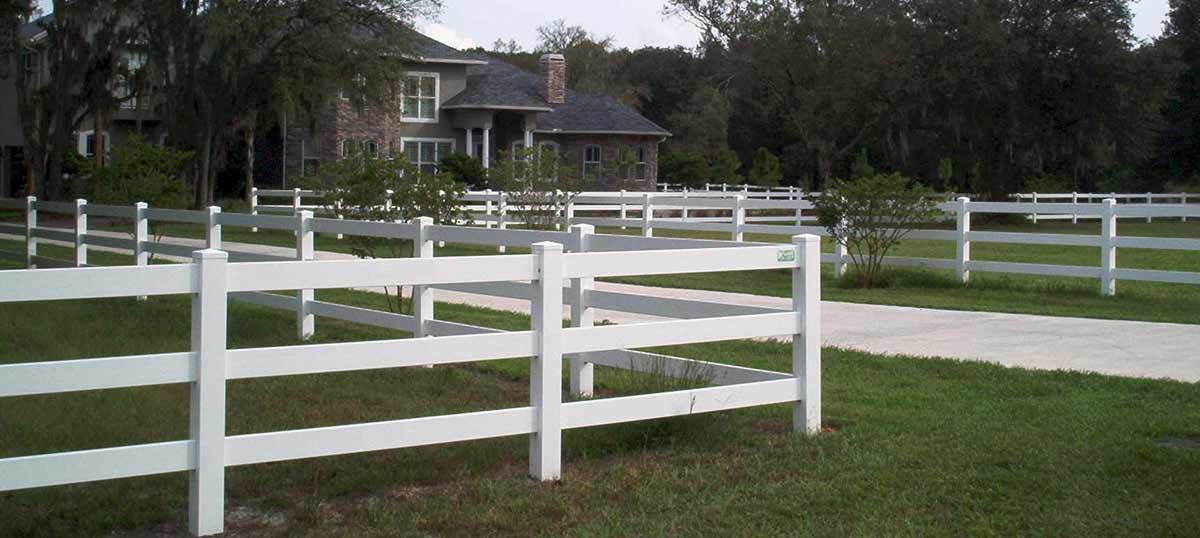 3 Rail Ranch Rail Fence