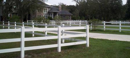 3 Rail Ranch Rail Fence