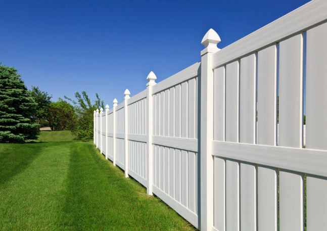 Semi-Privacy Fence With Cathedral Post Caps