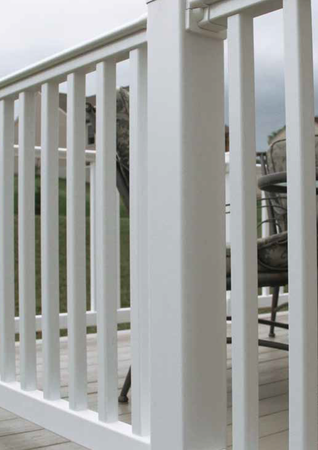200 Series White Railing