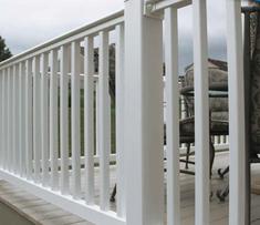 200 Series White Railing